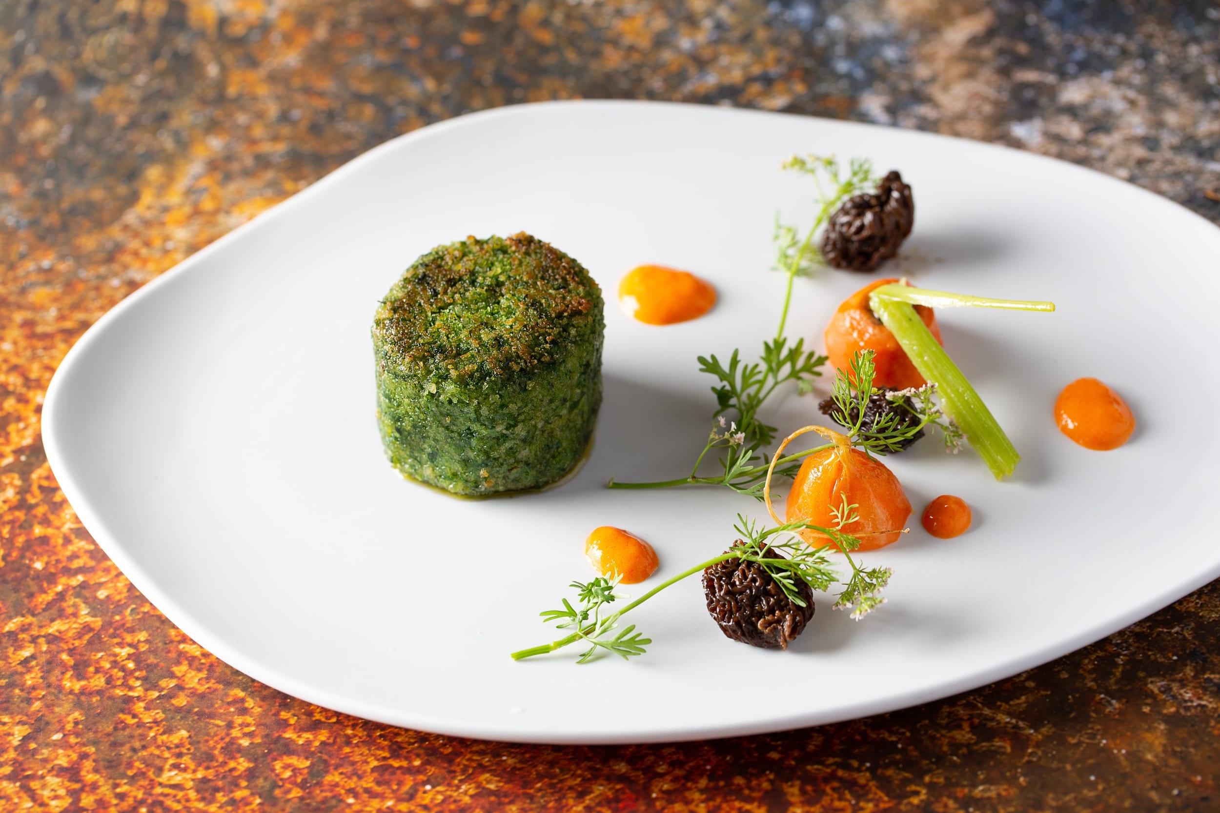 Entrée aux truffes d'Aveyron au restaurant d'Espalion
