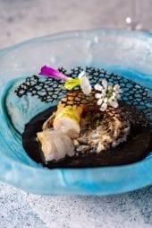 Crevettes aveyron du chef Burgarella pour le restaurant gastronomique