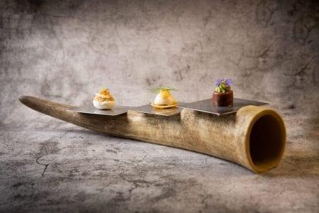 Corne d'Aubrac pour les amuses bouches du restaurant gastronomique espalion aveyron