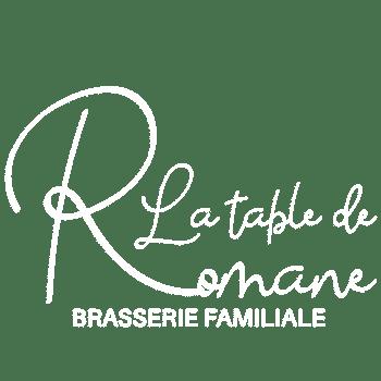 Logo blanc brasserie la Table de Romane espalion